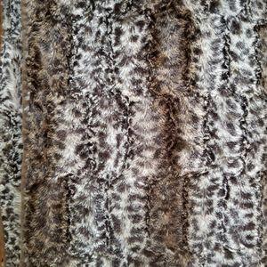Animal print throw or blanket